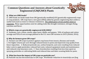 Common Questions and Answers about Genetically Engineered (GM/GMO) Plants