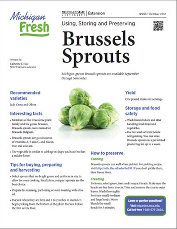 Michigan Fresh Using Storing And Preserving Brussels Sprouts Hni53 Msu Extension