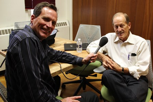 Russ White and Dr. David Cleaves during their interview for the Greening of the Great Lakes