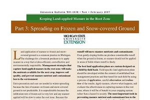 Keeping Land-applied Manure in the Root Zone Part 3 Spreading on Frozen & Snow-covered Ground WO1038