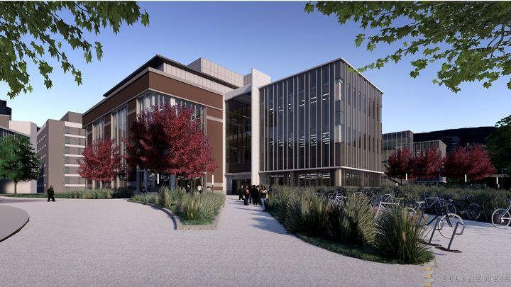 The Ellenzweig Architecture rendering shows the future STEM Teaching and Learning Facility at MSU that is slated to open in fall 2020.