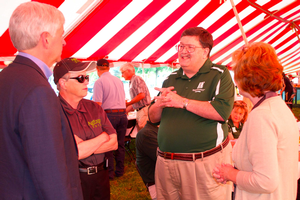 Governor Snyder, MSU President LouAnna K. Simon, Product Center Director Chris Peterson and MSU Extension Director Maggie Bethel