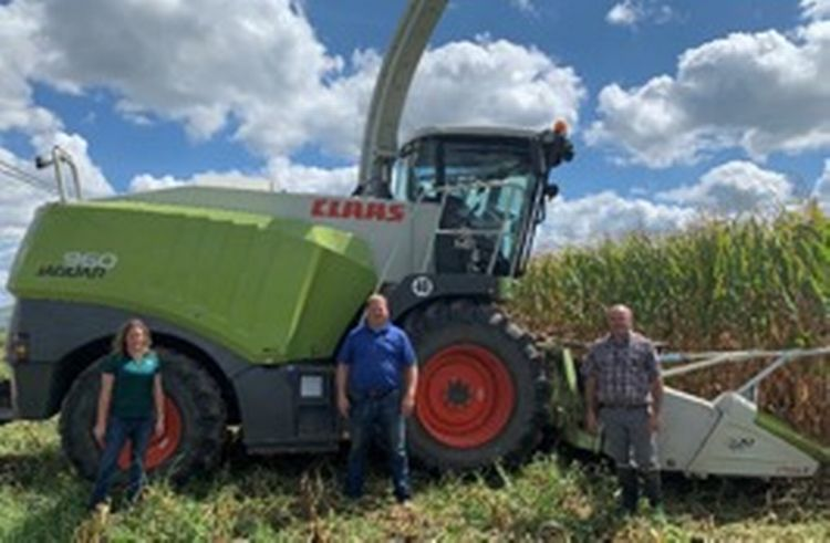 Burnips Equipment donated the use of a silage chopper for MSU South Campus Animal Farms.
