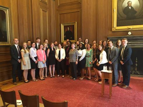 Demmer Scholars at the U.S. Supreme Court with Supreme Court Justice Elena Kagan