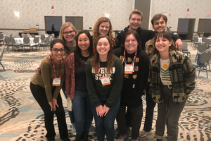A group of Student Horticulture Students attending the Northern Michigan Small Farm Conference