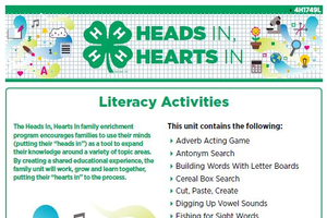 Heads In, Hearts In: Full Literacy Activity Book