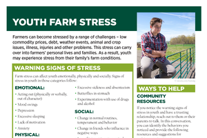 Youth farm stress