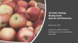 Buying Local: A 10 Cents a Meal Training for 2020-2021 Grantees