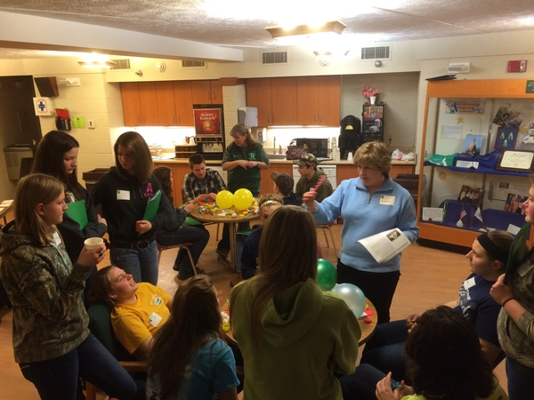4-H members participate in hands-on activities at the 2015 Michigan 4-H Dairy Conference. Photo by Melissa Elischer