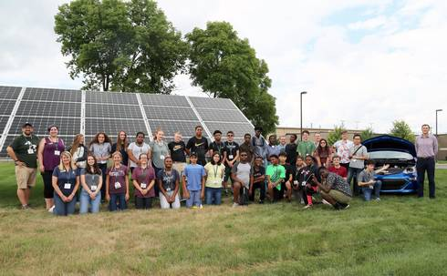 Participants at the 2018 Michigan 4-H Renewable Energy Camp.