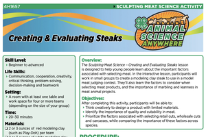 4-H Animal Science Everywhere: Creating and Evaluating Steaks