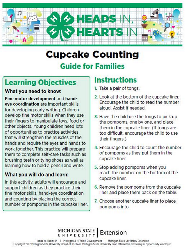 Cupcake Counting cover page.