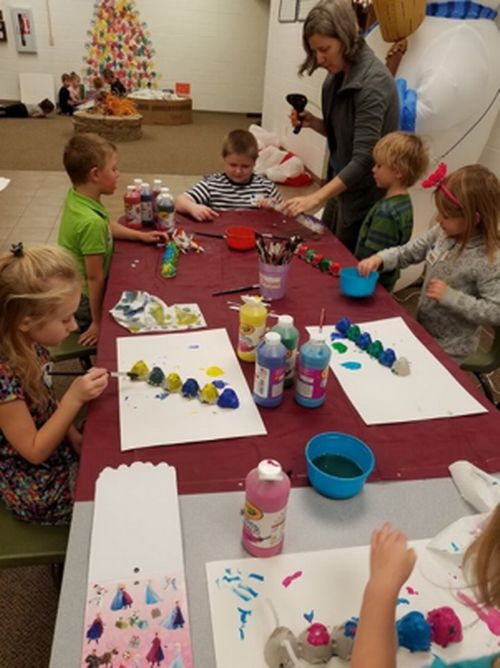 Alcona elementary students enjoy creating their own caterpillars. Photo: Alcona Community Schools