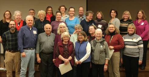 Several of the Michigan Master Gardeners that received recognition for their volunteer efforts in the Upper Peninsula. Photo credit: Liz Slajus, MSU Extension