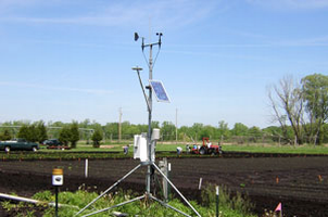 An Enviro-weather station in Coldwater is one of more than 70 in Michigan designed to assist growers.