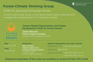 FCWG 2018-19 Learning Exchange Series Session: Climate Action Reserve