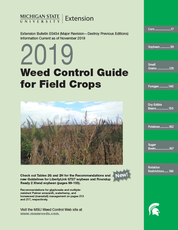 Weed Control Guide for Field Crops (E0434) - MSU Extension