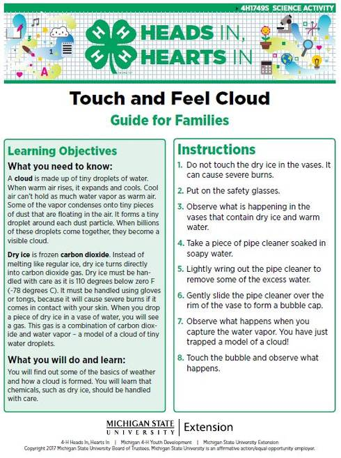 Touch and Feel Cloud cover page.