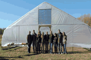 Students at Albion College Student Farm. Photo courtesy of David Lauffer.