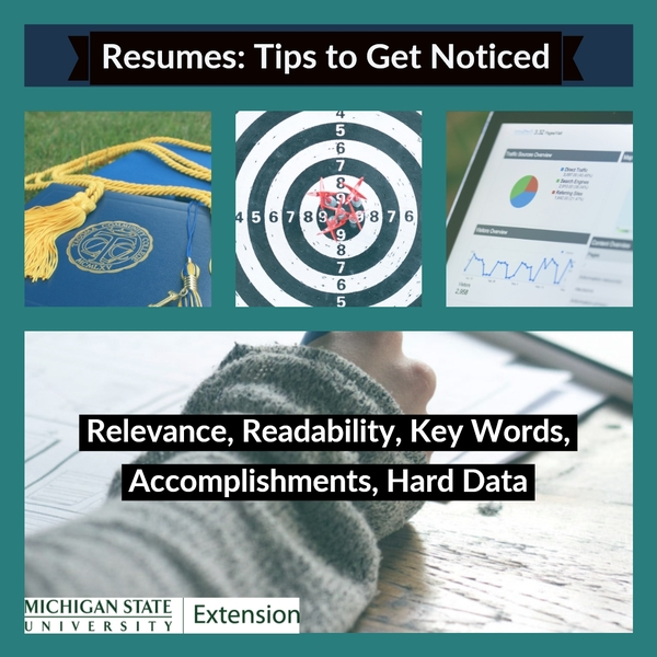 Resumes Five Key Tips To Make Yours Stand Out 4 H Careers
