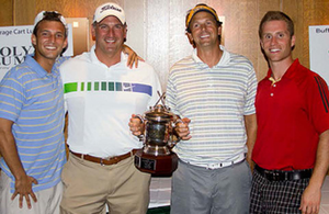 Photo of the team with the Lowest Score, Kramer Management – Matt Johnson, Pete Kramer, Dave Tycocki and Mike DeRose.