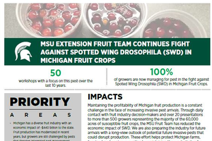 MSU EXTENSION FRUIT TEAM CONTINUES FIGHT AGAINST SPOTTED WING DROSOPHILA (SWD) IN MICHIGAN FRUIT CROPS