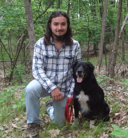 Jesse Pline and his dog Darth. Photo by Jan Brinn, MSU Extension.