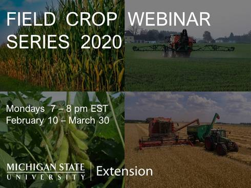 Field Crop Webinar Series infographic