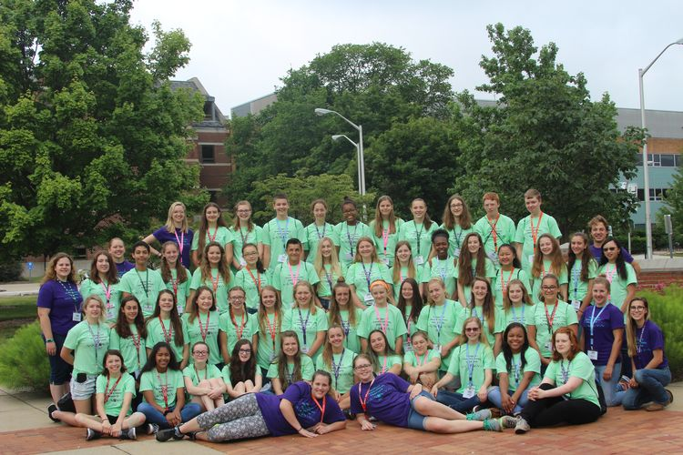 2017 campers and counselors. (Photo by MSU Extension)