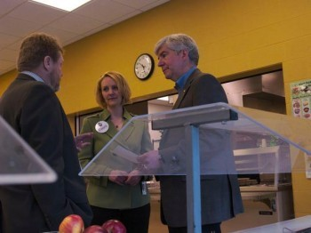 Governor Snyder visits Traverse City Area Public Schools (TCAPS). Photo courtesy of Michigan Land Use Institute.