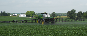 Foliar fungicide and insecticide applications in R3 soybeans