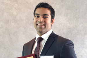 Rajeeth Dev Anand, Undergraduate Student in the Construction Management Program in the MSU SPDC
