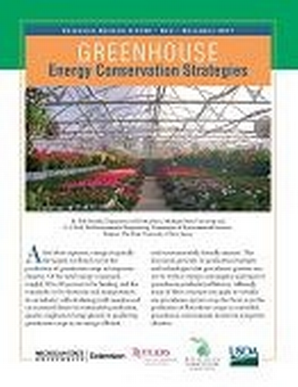 Greenhouse Energy Conservation Strategies (E3160