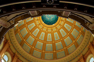 Shot of ceiling in MI Capitol Building