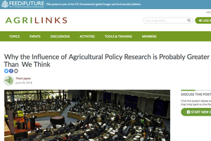 Why the Influence of Agricultural Policy Research is Probably Greater than We Think