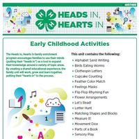 Early Childhood Activities cover page.