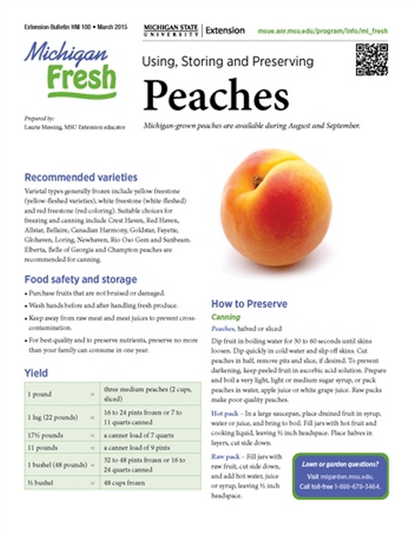 Michigan Fresh: Using, Storing, and Preserving Peaches