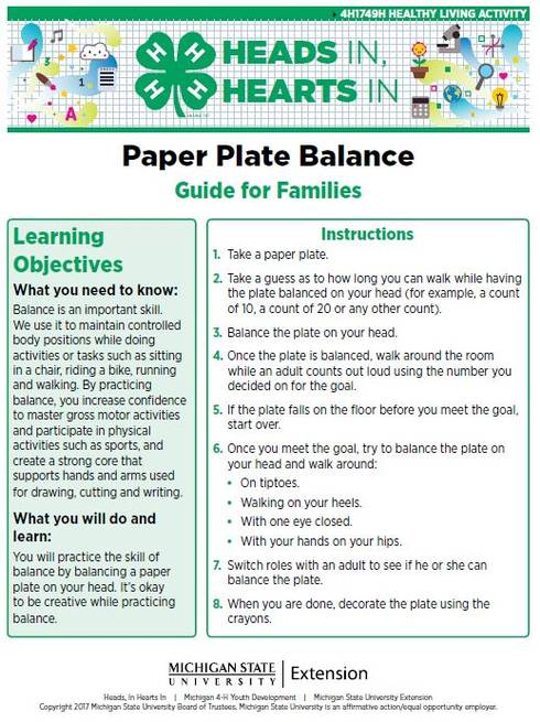 Paper Plate Balance cover page.