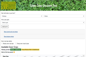 Midwest Cover Crop tool has been updated to better help farmers