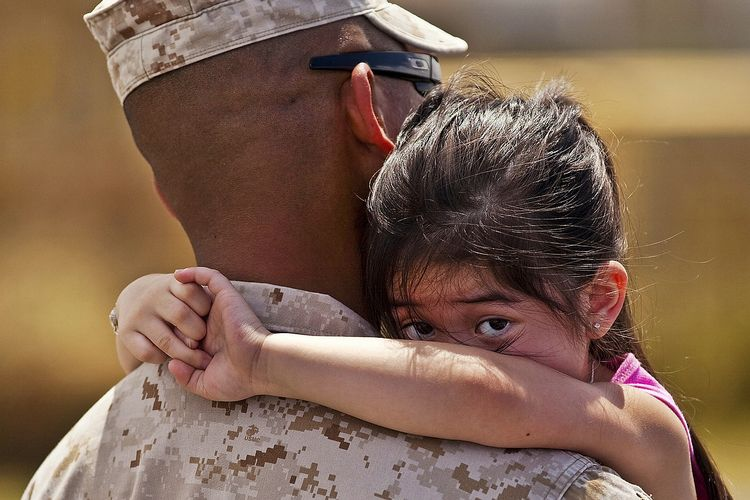 When a service member returns home after a long deployment it can be a mixture of emotions for both the family and the service member.