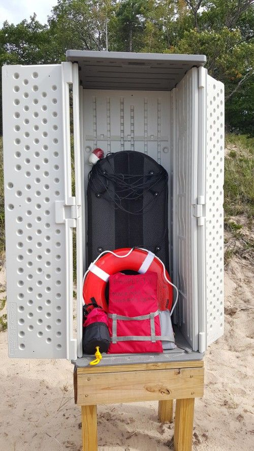 Water Rescue Station is shown at Northern Lake Michigan. Photo: Ron Kinnunen – Michigan Sea Grant