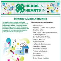 Healthy Living Activities cover page.