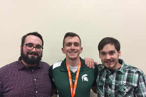 From left to right: Anthony Soster, Tyler Gilson, and Nick Fortuna were awarded industry scholarships