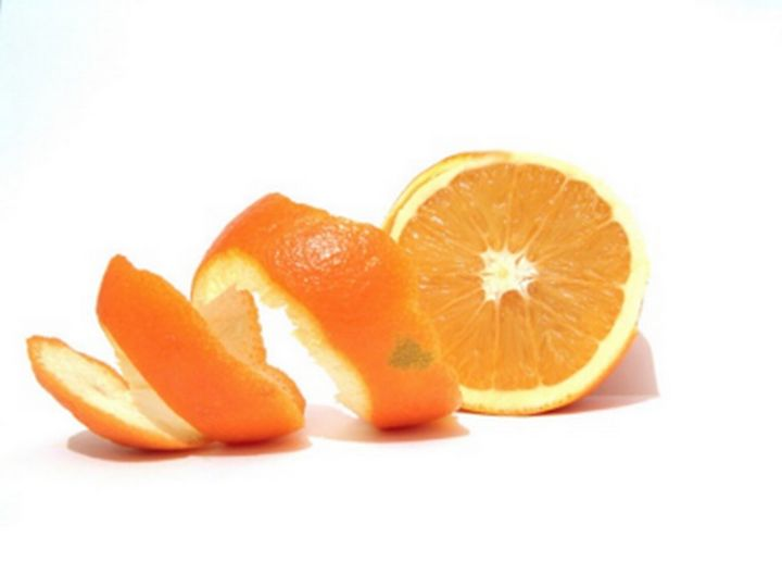 An orange being separated