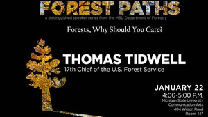 Forest Paths speaker series logo