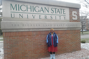 Nigerian visiting student, Winter 2017
