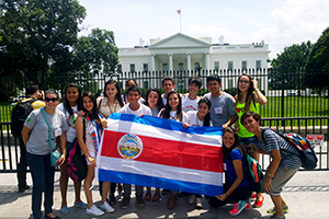 2015 Costa Rican delegates at Orientation in Washington, D.C. Photo by Crystal Oswald-Herold