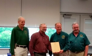 Charles Nelson receives Partner in Conservation Award from the DNR