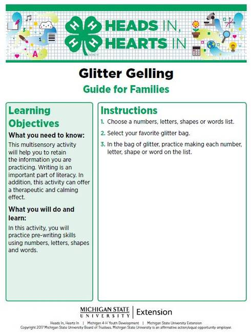 Glitter Gelling cover page.