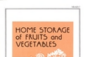 Home Storage of Fruits and Vegetables (E1696)